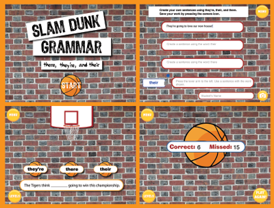 Slam Dunk Grammar: They're, There, and Their Screens