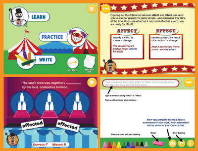 Carnival Grammar: Affect and Effect Screens